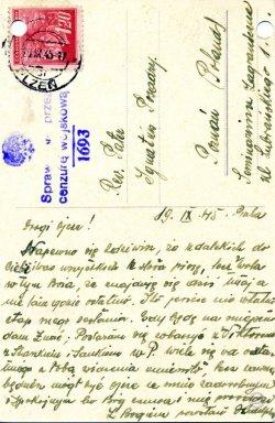 List do ks. Posadzego, z dn. 19.IX.1945