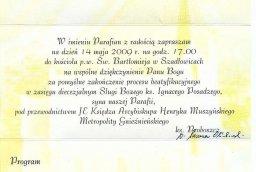 Nadanie honorowego obywatelstwa gminy Gniewkowo